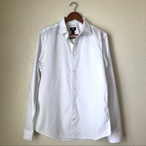 NWT H&M White Slim Fit Button Up